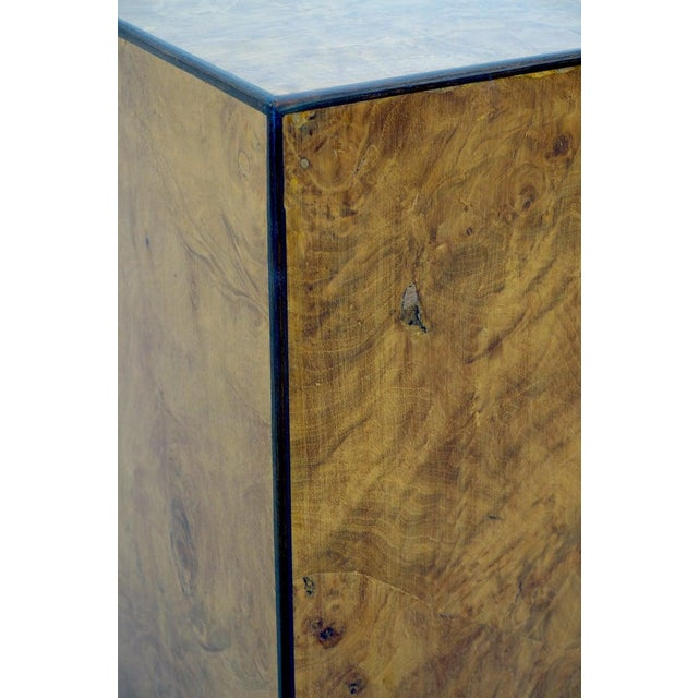 Mid-Century Modern Drexel Heritage Furniture Pedestal Burlwood Veneers For Sale - Image 9 of 10