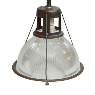 "14"" Industrial Holophane Factory Pendant Light"