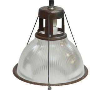 "14"" Industrial Holophane Factory Pendant Light For Sale"