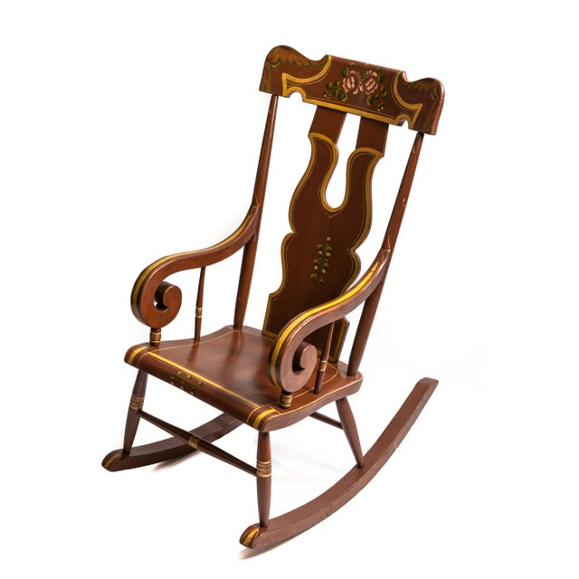 Decorated Boston Rocker For Sale - Image 4 of 4