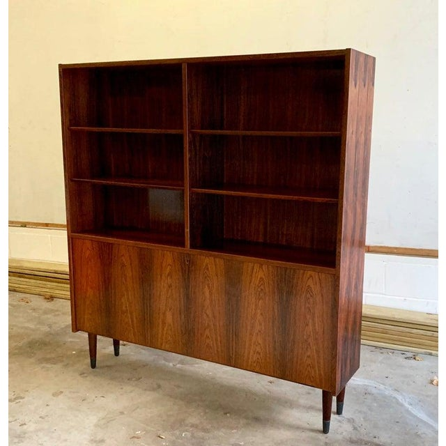 Danish Mid Century Modern Rosewood Bookcase / China Cabinet For Sale - Image 11 of 11