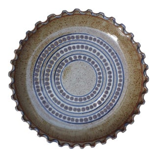 Late 20th Century Stoneware Pie Dish For Sale