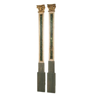 19th Century Italian Pilasters or Columns - a Pair For Sale
