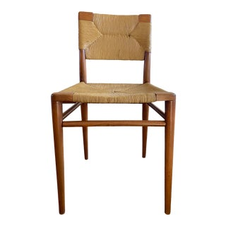 Mel Smilow Rush and Walnut Dining Chair For Sale