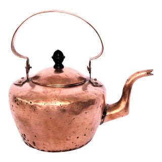 1920s Antique Copper Kettle For Sale