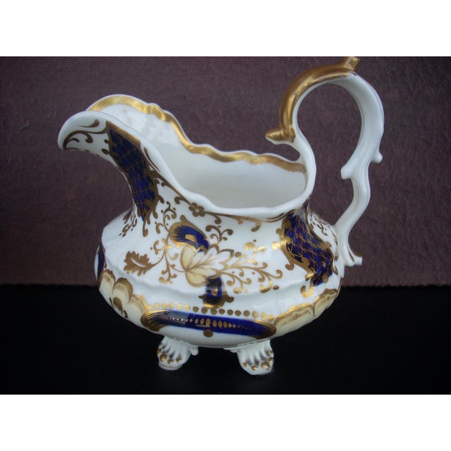 Baroque Early 19th Century Antique Gaudy Welsh Sugar & Creamer For Sale - Image 3 of 8
