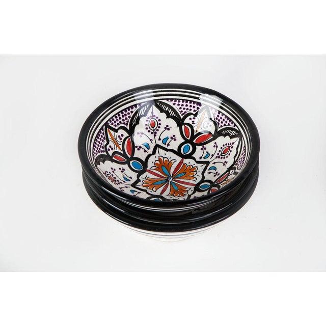Boho Chic Black Bowls - Set of 3 - Image 3 of 5