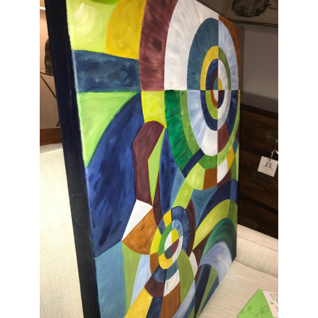 Contemporary Abstract Oil Painting on Canvas For Sale In New York - Image 6 of 8
