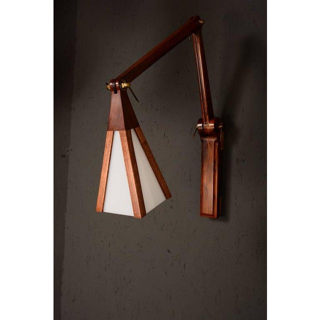 Cocobolo & Walnut Wall Sconce For Sale - Image 9 of 10