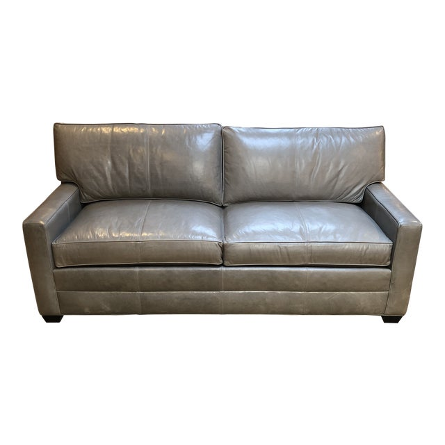 Bennett Leather Sofa From Ethan Allen | Chairish