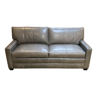 New Bennett Leather Sofa From Ethan Allen For Sale