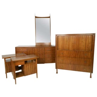 John Widdicomb Bedroom Suite With Dressers and Nightstands For Sale