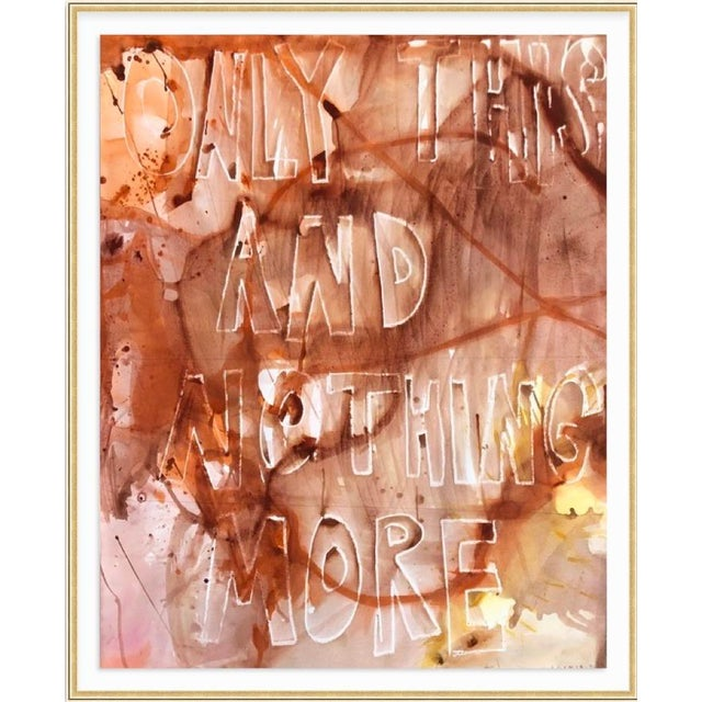 Only This and Nothing More, mixed media on paper by Virginia Chamlee. Signed and dated, 2020. Unframed (photos show what...