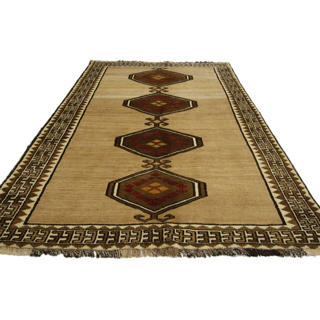 Islamic Vintage Persian Shiraz Accent Rug With Modern Tribal Style - 04'03 X 07'01 For Sale - Image 3 of 5