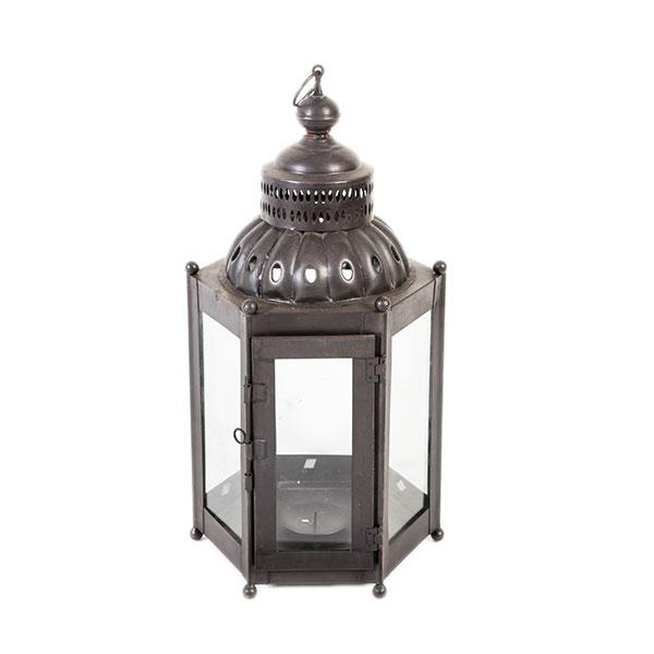 Bring a soft glow to your home with this Moroccan iron lantern. Made in India, this contemporary piece works both indoors...