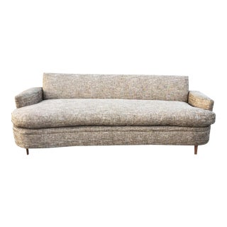 Mid-Century Modern Tweed Upholstered Sofa