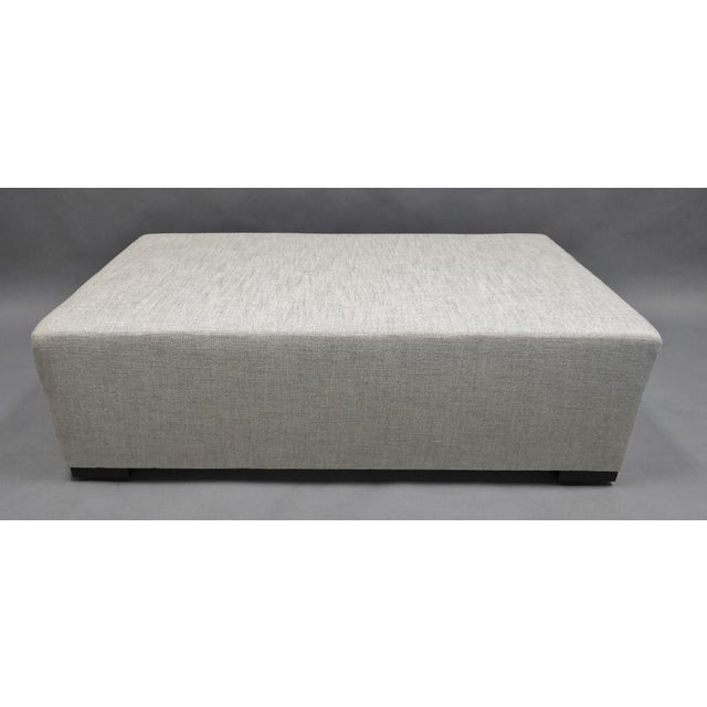 """Upholstered Ottoman/Coffee Table With Hidden Casters in Dedar Fabric # T19010-004 Svevo / Perla 58""""L x 36""""D x 18""""H (Height..."""