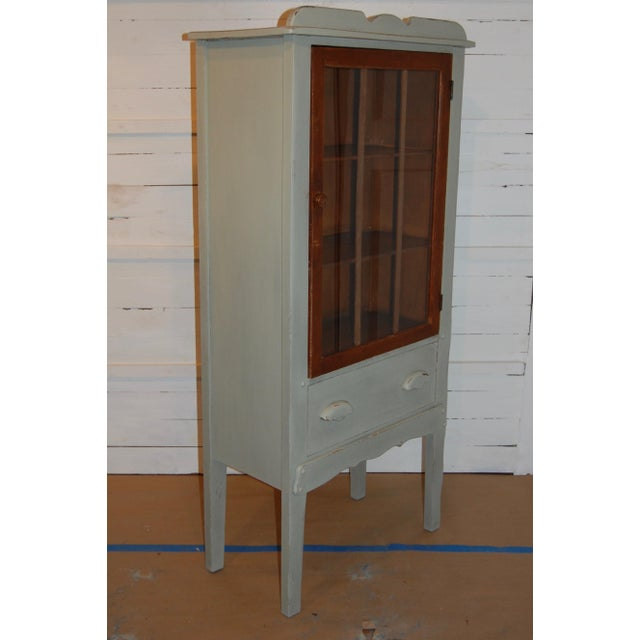Antique Painted Display Cabinet - Image 3 of 10