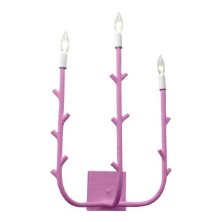 Stray Dog Designs for Chairish Fred Sconce, Violet For Sale