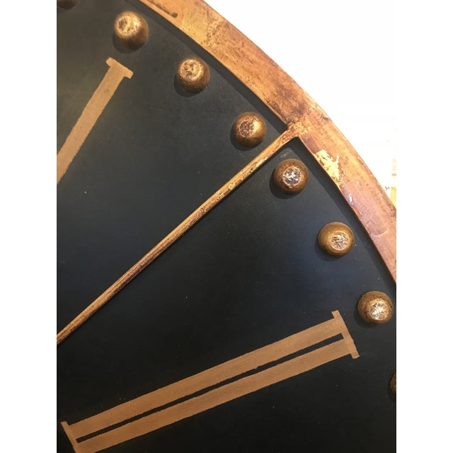 Large Black and Copper Clock For Sale In Atlanta - Image 6 of 8