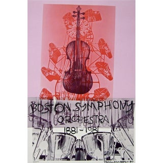 Robert Rauschenberg Boston Symphony, 1980 Centennial Exhibition Poster 1981 For Sale