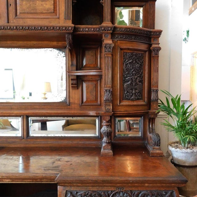 Wood Early 20th Antique European Hutch For Sale - Image 7 of 10