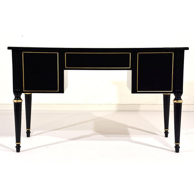 French Louis XVI-style Ebonized Desk - Image 10 of 10
