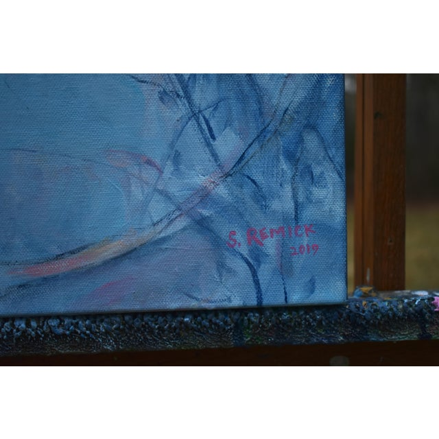 "Blue Stephen Remick ""Heading Home"" Contemporary Expressionist Painting For Sale - Image 8 of 12"