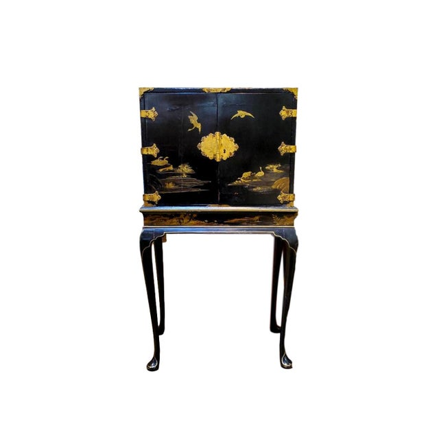 19th Century Japanese Tea Cabinet on Stand - 2 Pieces For Sale - Image 10 of 10