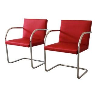 Mies van der Rohe for Knoll International Brno Chairs - A Pair