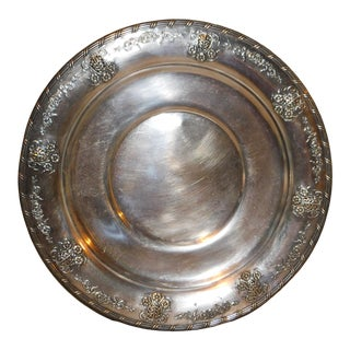 Large Vintage Silverplate Charger For Sale