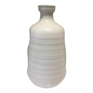 Jamie Young Matte White Ceramic Dimple Vase