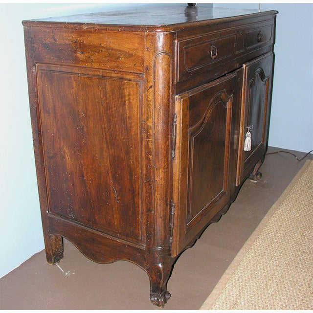 French French Walnut Buffet For Sale - Image 3 of 10
