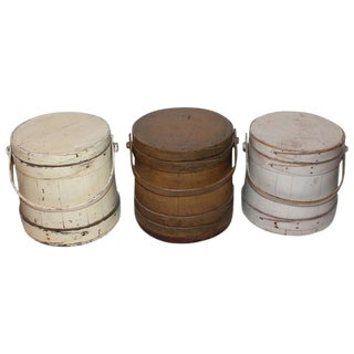 Group of Three Assorted Furkins or Buckets For Sale