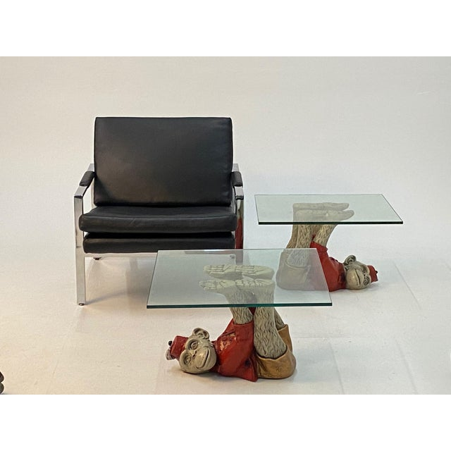 Monkey Motife End Tables Coffee Table -A Pair For Sale - Image 4 of 13