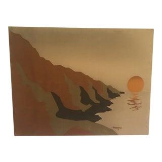 1970s Vintage Brejtfus Landscape Painting For Sale