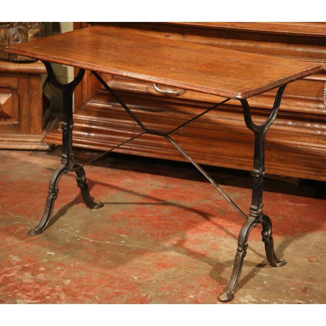 Late 19th Century French Iron & Wood Bistro Table - Image 2 of 6