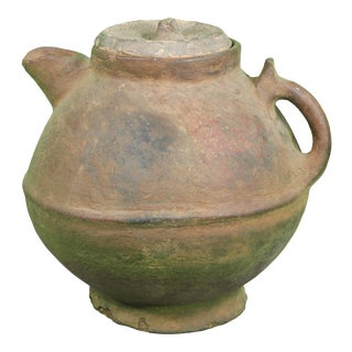 Ornate Berber Water Vessel W/ Lid For Sale