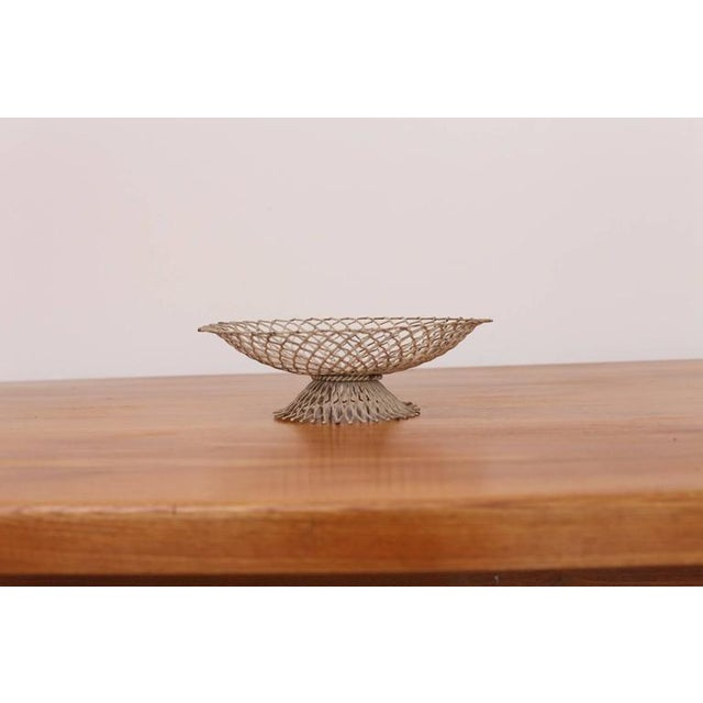 Belgian Vintage Bowl in White Attributed to Mathieu Matégot For Sale - Image 3 of 4