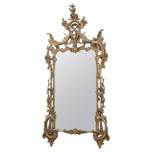 Mid 19th Century Italian Baroque Style Carved Giltwood Mirror, 19th Century For Sale - Image 5 of 5