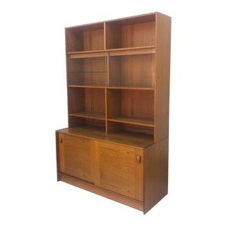 Vintage Modern Teak Bookshelf For Sale