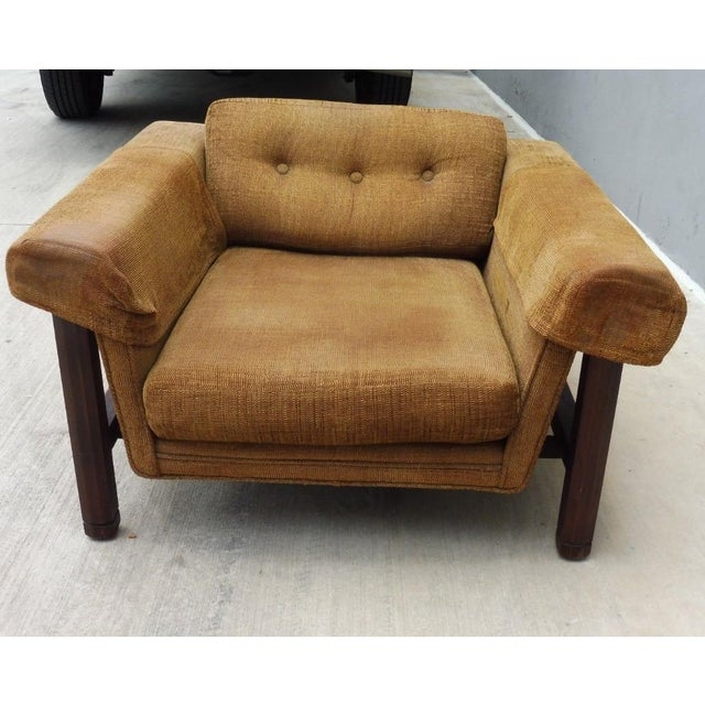 Chair is sold as is without restoration The best design 1960's mid century modern low slung Danish Modern lounge chair...