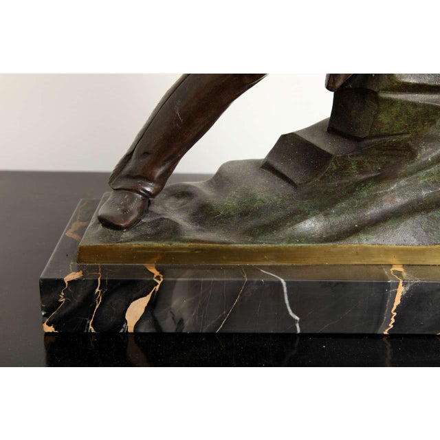 French Art Deco Bronze Signed E. Guy For Sale In New York - Image 6 of 10