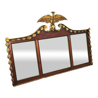 Early 19th Century Federal Eagle Three Panel Wall Mirror For Sale