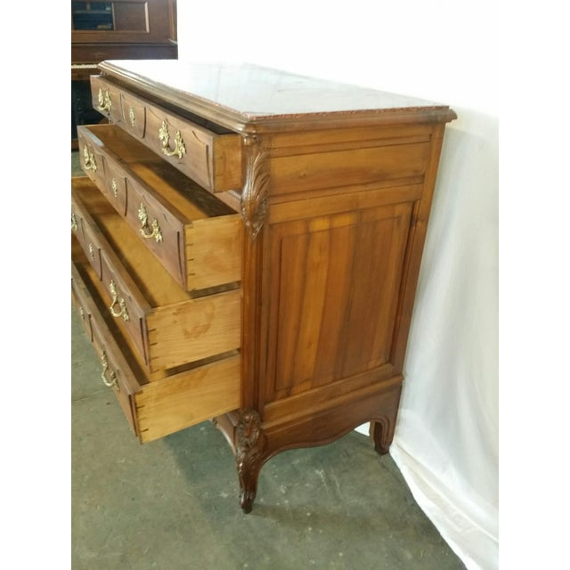 Thom Downs Antiques presents this refined chest purchased in Paris. Created circa 1880. Beautiful walnut There is a crack...