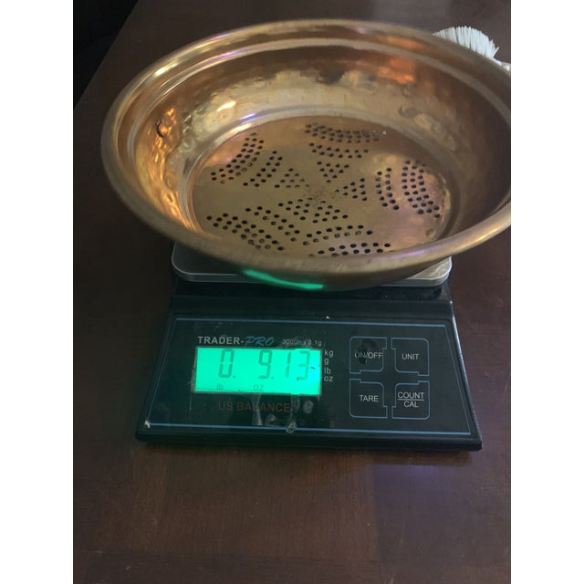 Vintage French Country Copper Strainer For Sale - Image 9 of 10