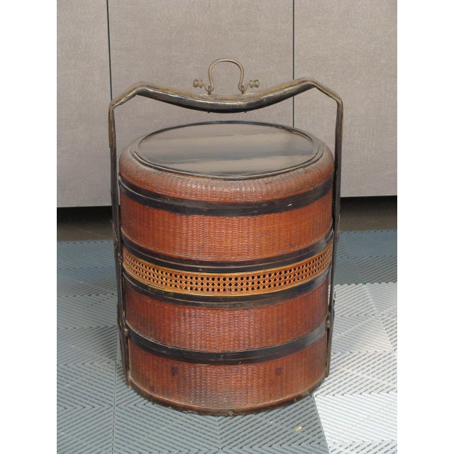 19th Century Chinese Bamboo Picnic Boxes- A Pair - Image 3 of 8