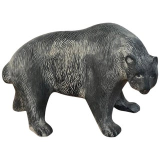 Large Midcentury Pottery Bear, Attributed to Tony Evans For Sale