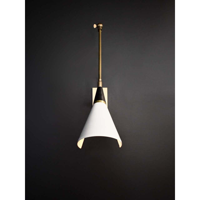 Not Yet Made - Made To Order Magari Adjustable Wall Lamp in Black, White and Brass by Blueprint Lighting For Sale - Image 5 of 10
