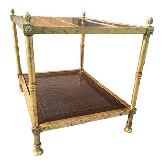 Mastercraft Attributed Two-Tier Side Table For Sale